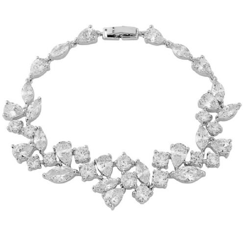 Crystal CZ Bridal Bracelet, Wedding Bracelet